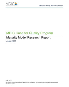 MDIC Medical Device Maturity_Model_Report