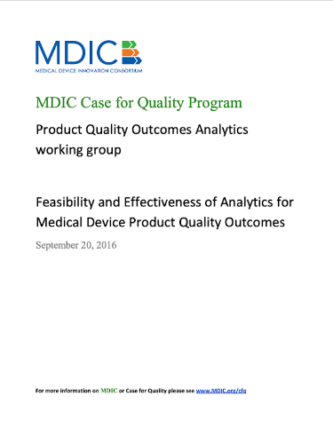 Medical Device Quality Outcomes Analytics Report
