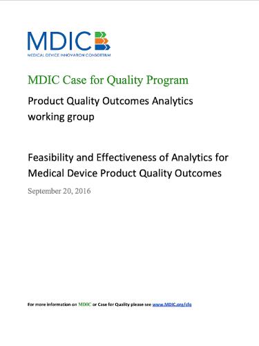 Medical Device QualityOutcomes Analytics Report