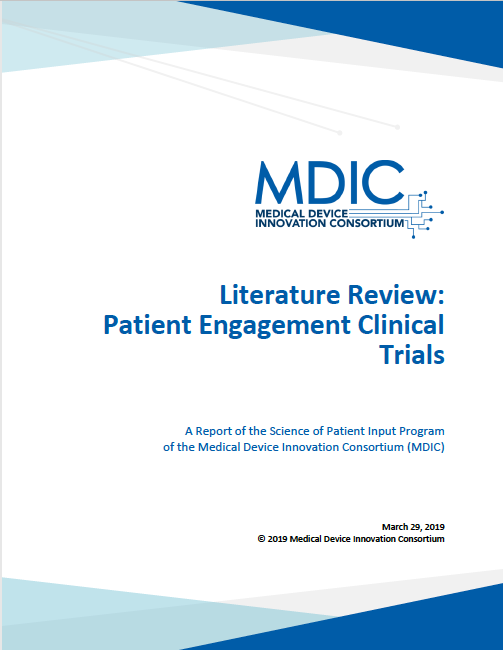 Literature Review: Patient Engagement in Clinical Trials